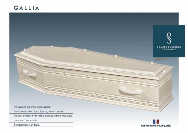 Cercueil Crémation GALLIA