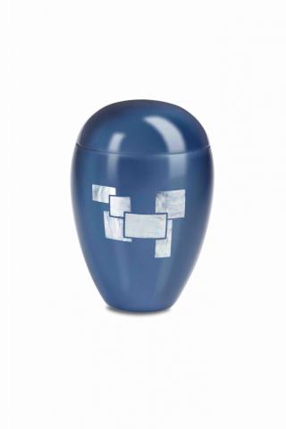 Urne funéraire LAQUE Iris Bleu
